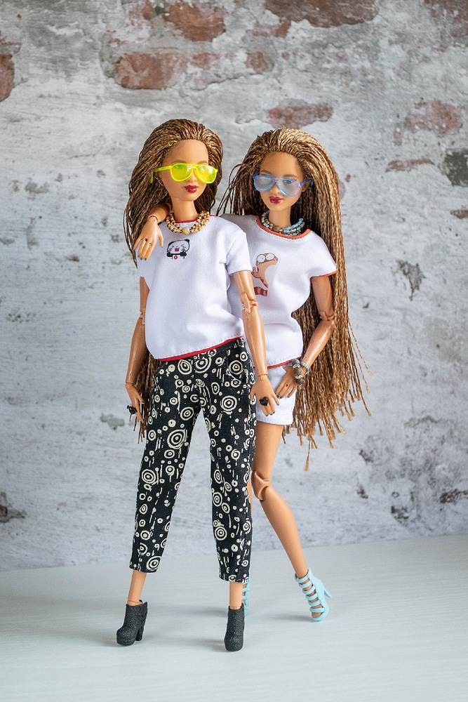 Barbie clothes for twins